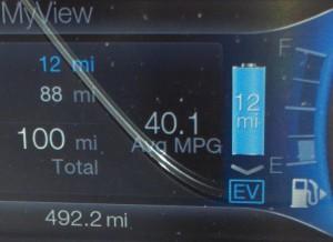 Ford C-Max Energi MPG & Miles 01/06/13