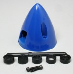 1-1/2 Inch Du-Bro Spinner Blue - Product Image