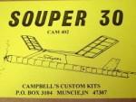 """Souper 30 P-30 Rubber Free Flight 30"""" - Product Image"""