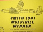 "Smith Mulvihill OT Rubber Free Flight 38"" - Product Image"