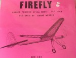 "Free Flight Old Time Rubber ""Firefly"" Brand X Models - Product Image"