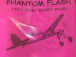 "Free Flight Old Time Rubber ""Phantom Flash"" Brand X Models - Product Image"