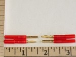 2mm Gold Pin Steckers type Wire Connector 1-Pair Set - Product Image