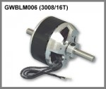 GWS Brushless Outrunner Motor 3008/16T CNC - Product Image