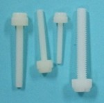 """Knurl Head Slotted Screw - Nylon 6-32 x 1"""". Qty 6 - Product Image"""