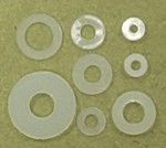 Flat Nylon Washer 4mm Qty 6 - Product Image