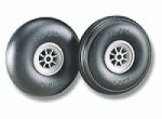 "Du-Bro Low Bounce Treaded Wheels  2 1/2"" - Product Image"
