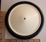 "Williams Bros. Vintage Wheels 6-5/8"" Diameter, Linen Rim, Black Tyre, Pair - Product Image"