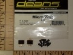 DEANS Black 4 Pin Connector Pair - Product Image
