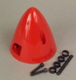 2 Inch Dubro Spinner Red - Product Image
