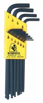 Bondhus Ball end Hex L-Wrench SAE (Inch) 10 pc Set - Product Image