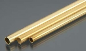 Variety 3-Pack: One 3/16, one 7/32 and one 1/4 Inch K & S Round Brass Tubing - Product Image