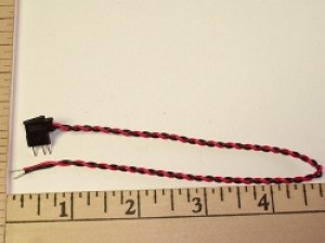 2 Pole/Wire Single End Pigtail/Conn. Male Futaba G old Style - Product Image