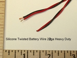 2 Pole Red/Black Battery Twisted Silicone Wire 20ga Heavy Duty - Product Image