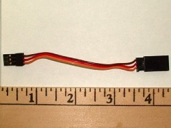 Adapter Female Futaba J to Male JR/Hitec/Spektrum (Futaba J servo into JR RX) - Product Image