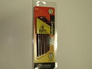 """Bondhus Ballpoint """"L"""" Allen SAE Inch 8 pc Set - Product Image"""