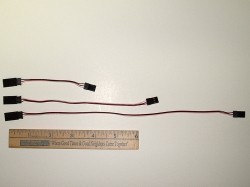 "3 Pole/Wire Servo Micro Lite Extension Harness 3"" - Product Image"