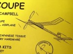 """Souper Coupe F1G Rubber Free Flight 38"""" - Product Image"""