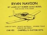 "Ryan Navion Rubber Scale Free Flight 30""  - Product Image"