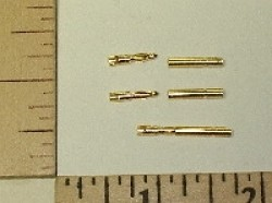 1.5mm Gold Plated Bullet Connector Pin Set, 3-pack - Product Image