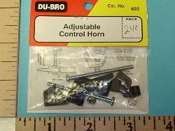 Du-Bro Adjustable Nylon Control Horn Set - Product Image