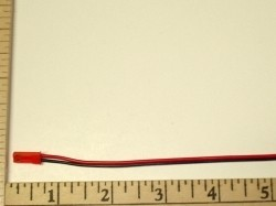 "2 Pole/Wire Pigtail Male BEC(Red JST) 6"" - Product Image"