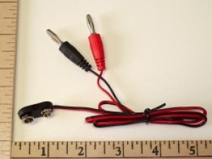 "9 Volt Clip 24"" Direct Charge Cord - Product Image"
