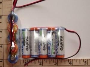 FDK/Sanyo 2700mah 5 AA Cell 6V NIMH RX pack - Product Image