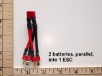 Battery/ESC Y Harness 2 Battery Parallel into 1 ESC Built with Deans  Ultra - Product Image
