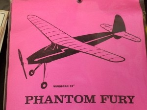 "Free Flight Old Time Rubber ""Phantom Fury"" Brand X Models Laser Cut - Product Image"