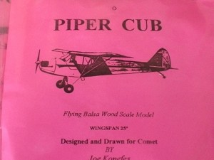 "Free Flight Old Time Rubber ""Piper Cub"" Brand X Models - Product Image"