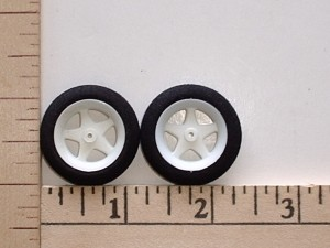 "Maxx Products Lite Weight Foam Tire & Spoked Wheel Pair 1.25"" Dia. - Product Image"