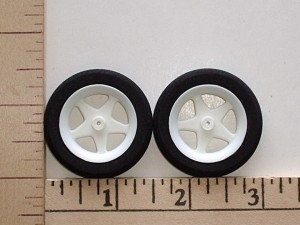 "Maxx Products Lite Weight Foam Tire & Spoked Wheel Pair 1.5"" Dia. - Product Image"