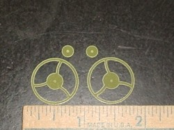 Radical RC Micro Lite G-10 Fiberglass 20mm Spoked Wheels - Product Image