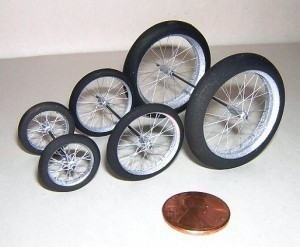 "NS Wheels: Fine, 3/4 x 1/8"" Ultralight Spoked Wheels, Pair - Product Image"