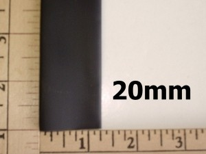 """25/32""""/20mm Flexible Shrink Tubing for Wires, 1-Foot Pc Black - Product Image"""