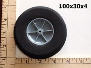 "RRC Light Foam Wheel/Tire Pair. 3.9""x1.2"" (100mmx30mm) - Product Image"