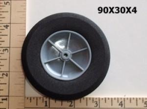 "RRC Light Foam Wheel/Tire Pair. 3.5""x1.2"" (90mmx30mmx4mm(shaft)) - Product Image"
