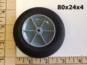 "RRC Light Foam Wheel/Tire Pair. 3.2""x0.96"" (80mmx24mmx4mm(shaft)) - Product Image"
