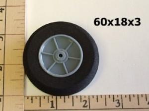 "RRC Light Foam Wheel/Tire Pair. 2.4""x0.7"" (60mmx18mmx3mm(shaft)) - Product Image"