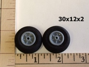 RRC Light Foam Wheel/Tire Pair. 30mmx12mmx2mm(shaft) - Product Image