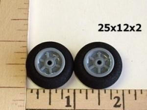 RRC Light Foam Wheel/Tire Pair. 25mmx12mmx2mm(shaft) - Product Image