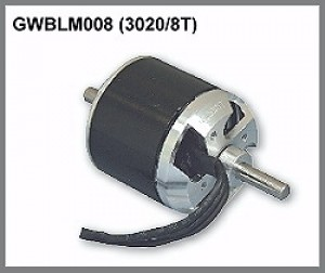 GWS Brushless Outrunner Motor 3020/8T CNC - Product Image