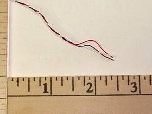 3 Pole Futaba Colored Sub Micro Twisted Servo Wire - Product Image