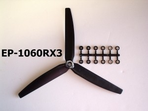 GWS 3 Blade Prop HD 10 x6 COUNTER ROTATING, Black - Product Image