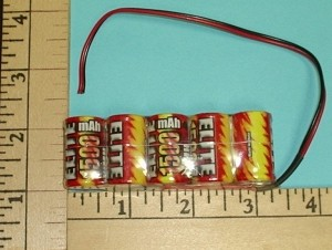 Elite 1500mAh High Drain 5 Cell 2/3A NiMH 6V Battery Flat RX Pack - Product Image