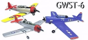 GWS T6 with Brushless Motor in Yellow/Red Electric ARF with Power System - Product Image