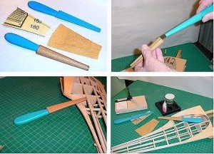 Fourmost Products Tapered Sanding Stick with Sandpaper - Product Image