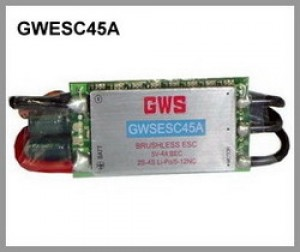 GWS BRUSHLESS ESC 45A - Lipo/A123 - Product Image