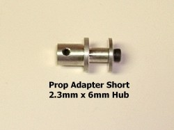 RRC 2.3mm Set Screw Type Prop Adaptor - Short - Product Image